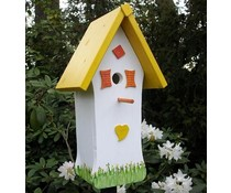Design Vogelhuizen Kado Idee Nederland collectie 2017 │ Направи къщичка ръка и боядисани (височина четиредесет и четири cm, ширина двайсет и два сантиметра, дълбочина 16 cm)