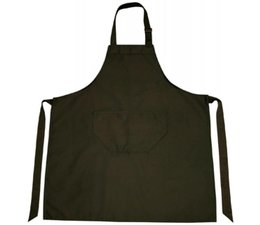 Professionele keukenschorten in de kleur zwart (verstelbaar in de hals en met opbergvakje)