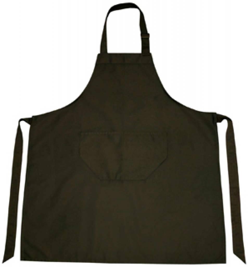 Professionele keukenschorten in de kleur zwart (verstelbaar in de hals en met opbergvakje
