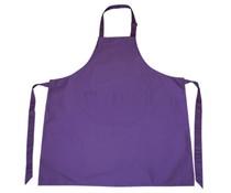 Günstige lila Schürze! Schürze in der Farbe lila (mit verstellbaren Hals, 65% Polyester / 35% Baumwolle)