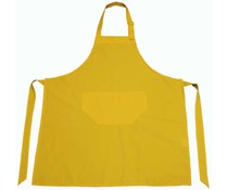 Professionele gele Keukenschorten (kwaliteit 65% Polyester / 35% Cotton, formaat 75 x 85 cm)