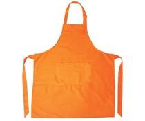 Schürze kaufen in Orange? Professionelle Küchen-Schutzbleche in orange (Qualität 65% Polyester / 35% Baumwolle)