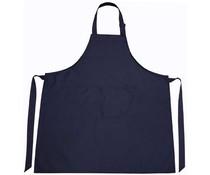 Professionele keukenschorten in de kleur donkerblauw (met verstelbare hals lengte)