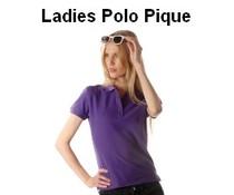 100% cotton ladies Polo (polo pique)