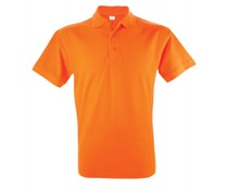 Oranje heren Poloshirts in diverse maten (S t/m XXL)