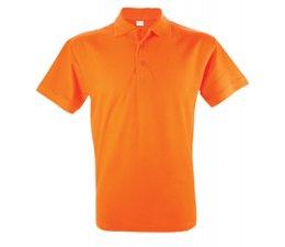 Goedkope 100% katoenen oranje heren Poloshirts in diverse maten kopen?