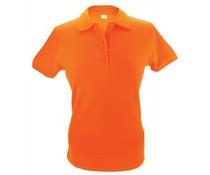 100% katoenen oranje dames Poloshirts (maten S t/m XXL)