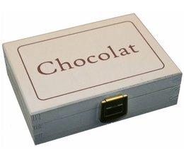 """Design дървена кутия шоколадови замазване купите с текст """"Chocolat""""?"""