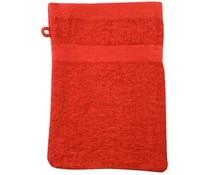 Waschlappen in rot (badstof/100% Baumwolle)