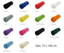 Goedkope mooie badstof baddoeken (afmeting 70 x 140 cm, 380 gr/m2)