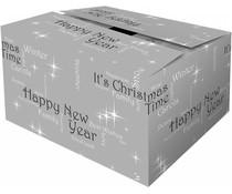 """Grau-Boxen mit Weihnachten Thema """"Happiness"""" (in verschiedenen Größen)"""