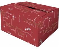 """Red Коледа кутии с тема """"Щастието"""" (с различни размери)"""