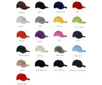 100% brushed katoenen Baseballcaps voor volwassenen (voorzien van verstelbare velcro sluiting aan achterzijde)