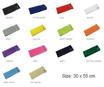 Goedkope badstof Golfdoekjes met zilverkleurige metalen kliphaak (afmeting 30 x 55 cm, gewicht 380 gr/m2)