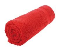Rode badstof badhanddoeken (maat 50 x 100 cm, 360 gram/m2)