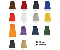 Buying cook apron? Long professional Cook Sloven (size 96 x 100 cm) in 15 colors!