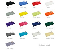 Luxe badstof badhanddoeken van het merk Sophie Muval (450 gr/m2, afmeting 50 x 100 cm)