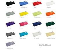 Luxuriöse Frottee-Handtücher der Marke Sophie Muval (450 g/m2, Größe 50 x 100 cm)
