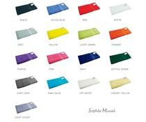 Luxe baddoeken van het merk Sophie Muval (afmeting 70 x 140 cm, gewicht 450 gr/m2)