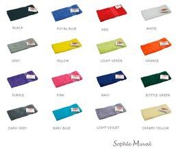 Luxe badstof gastendoekjes van het merk Sophie Muval (verkrijgbaar in 17 verschillende kleuren)