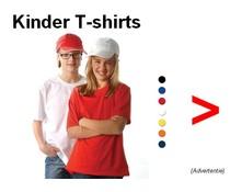 100% Baumwolle Kinder-T-Shirts mit kurzen Ärmeln und Rundhalsausschnitt