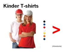 100% памук детски тениски с къс ръкав и обло деколте