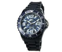 Goedkope horloges kopen? Trendy horloge (waterdicht tot 5 bar) met datumaanduiding in de kleur midden blauw
