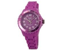 Goedkope horloges kopen? Trendy Q en Q horloge (waterdicht tot 5 bar) in de kleur paars/roze met 1 jaar garantie op het uurwerk)