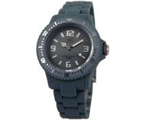 Goedkope horloges kopen? Trendy Q en Q horloge (waterdicht tot 5 bar) in de kleur donkergrijs met 1 jaar garantie op het uurwerk)
