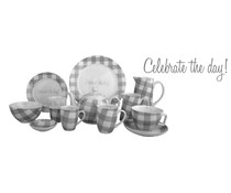 "Servies ""Celebrate the day!"""