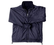 Heerlijke warme fleece jacks voor dames en heren (dubbelzijdig te dragen, buitenzijde blauw nylon en binnenzijde blauwe fleece)