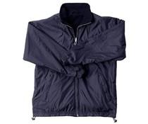 Прекрасни топли якета руно за мъже и жени (двустранен да носят синя найлонова екстериора и интериора син вълнен парцал)