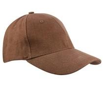 100% katoenen Baseballcaps in de kleur bruin voor volwassenen (zeer mooie en goede kwaliteit)