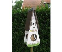 Design Vogelhuizen Kado Idee Nederland collectie 2017 │ Bird Feeder с ръчно рисувани и направени (височина 44 см, ширина 22cm, дълбочина 16см)