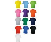 100% katoenen uniseks T-shirts (voorzien van een korte mouw en ronde hals)