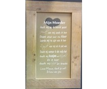 """Голям Текст Plate със списък на скеле дърво с тема """"My Mother"""" (размер 55 х 85 см)"""