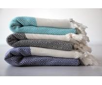 Hammam Tücher Medium mit Rautenmuster (100 x 170 cm) Material 100% Baumwolle