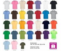 Fair Trade 100% katoenen uniseks T-shirts (met korte mouw en ronde hals)