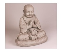 Boeddhabeeld Happy (mediterend) 25 cm hoog