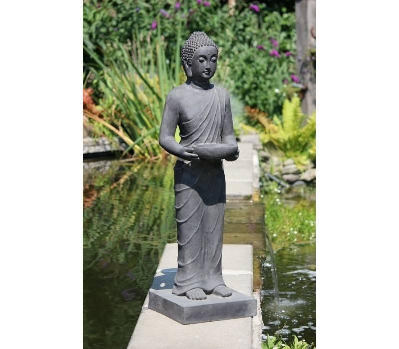 statue de bouddha debout avec un plateau 100 cm de haut tabliers professionnels acheter. Black Bedroom Furniture Sets. Home Design Ideas