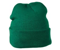 Dunkelgrüne Strickwintermützen (uni Erwachsenengröße, elastisch, 100% Acryl)