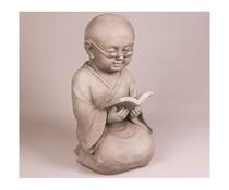 Boeddhabeeld Shaolin Monnik (beeld met boek) 42 cm hoog