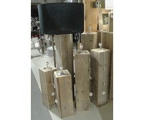 Fitting, Größe 50 (Höhe) x 20 x 20 cm, aus altem Holz Gerüst (Quadrat-Modell), mit Verkabelung, Montage und große Handschalter ausgestattet gemacht
