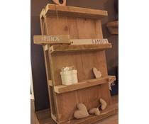 Muurdecoratiebord (gemaakt van oud steigerhout)