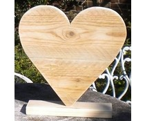 Heart on foot (40 cm high) made of old wood scaffolding
