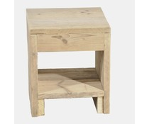Nightstand made of scaffolding wood (dimensions 40 x 45 x 40 cm)