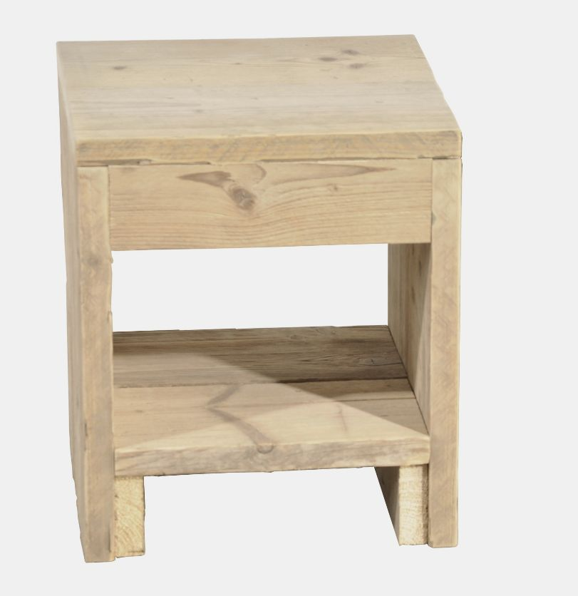 nightstand made of scaffolding wood dimensions 40 x 45 x