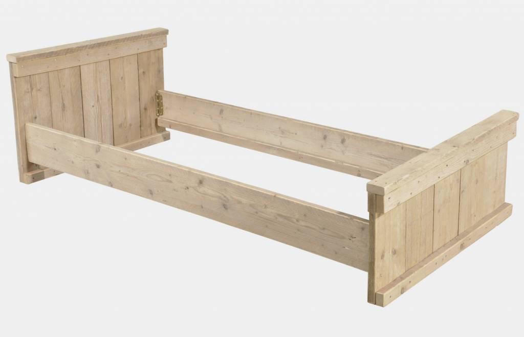1-persoons bed gemaakt van steigerhout - Kado Idee Nederland │ Kado ...
