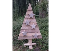 Christmas tree on foot (120 cm high) made of old wood scaffolding