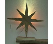 Sterne zu Fuß (40 cm hoch) aus altem Holz Gerüst gemacht